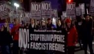 Trump faces massive protest ahead of his oath taking ceremony