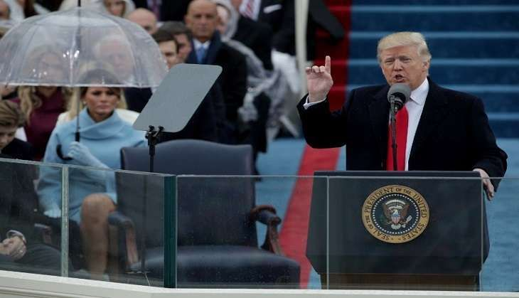Donald Trump moves from 'I' to 'We' as he's sworn in as USA's 45th President