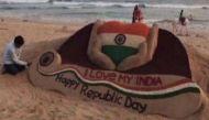 Odisha's sand artist  Sudarsan Pattnaik creates sculpture to mark 68th Republic Day