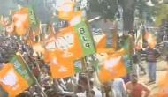 रोड शो राहुल का, झंडे दिखे भाजपा के और नारे लगे मोदी के