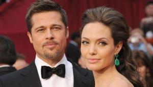 Brad Pitt eyeing Angelina Jolie's lookalike