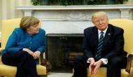 Donald Trump rejects Angela Merkel's handshake, Twitter goes crazy
