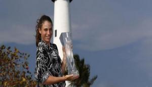 Johanna Konta becomes first British woman to lift Miami Open title