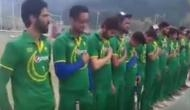 पाकिस्तानी क्रिकेट टीम की जर्सी में दिखे कश्मीरी क्रिकेटर्स, गाया पाकिस्तान का राष्ट्रगान