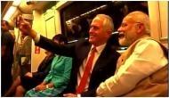 जब मोदी के साथ ऑस्ट्रेलियाई पीएम मैल्कम टर्नबुल ने किया मेट्रो में सफ़र