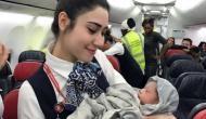 42,000 फीट की ऊंचाई पर फ्लाइट में पैदा हुई बच्ची, वायरल हुई तस्वीरें