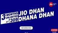 Reliance Jio का नया धमाका, 309 रुपये में 3 माह के लिए धन धना धन ऑफर