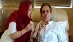 Dilip Kumar shares 'refreshing cup of tea' with wife Saira Banu