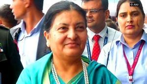 President Bhandari in Delhi, but Nepal 'eyeing China' of concern