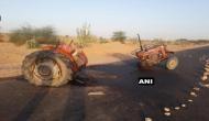 जैसलमेर: NH-15 पर टक्कर के बाद दो टुकड़ों में बंटा ट्रैक्टर