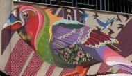 Thank you Delhi Metro: New wall art makes Arjangarh station chirp with life
