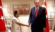 EAM Sushma Swaraj meets Turkish President Erdogan