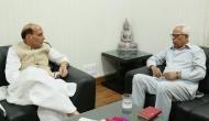 जम्मू-कश्मीर: घाटी के हालात पर राज्यपाल ने की राजनाथ सिंह से मुलाक़ात