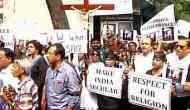 Mumbai Catholic associations protest over demolition of cross