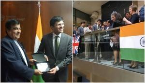 Nitin Gadkari opens trading at London Stock Exchange, likely to promote masala bond market