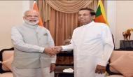 पीएम मोदी ने श्रीलंका में राष्ट्रपति सिरिसेना से की मुलाकात