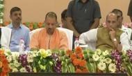योग दिवस की तैयारियों की समीक्षा करने पहुंचे गृहमंत्री राजनाथ सिंह और सीएम योगी