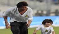 IPL 2017: मैच खत्म होने के बाद शाहरुख ने अबराम के साथ लगार्इ रेस