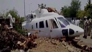 Video: Chopper carrying Maharashtra CM Devendra Fadnavis crash-lands in Latur