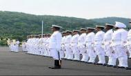 Sri Lankan Navy Chief reviews INA Passing out Parade