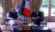 PM Modi meets French President Macron at Elysee Palace