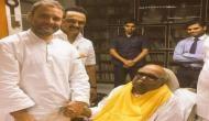 Chennai: Rahul Gandhi meets Karunanidhi, praises the 'voice of Tamil Nadu'
