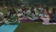 Moradabad residents practice yoga, plant trees on World Environment Day