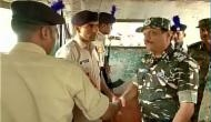 CRPF DG visits Kashmir, interacted with 45 Battalion CRPF Sumbal