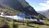 श्रद्धालुओं को ले जा रहा हेलीकॉप्टर बदरीनाथ में क्रैश