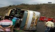 10 dead, 30 injured in a bus accident in Kangra