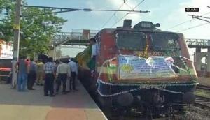 Gujarat CM Rupani flags off special train on centenary celebration of Sabarmati Ashram