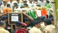 Mortal remains of soldier Sandeep Jadhav brought to his village