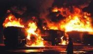 पाकिस्तान: टैंकर पलट जाने से लगी आग, 123 की मौत