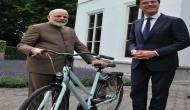 Dutch PM gifts bicycle to PM Modi