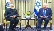 Israeli Prez breaks protocol to receive PM Modi
