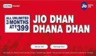 Reliance Jio ने पेश किया नया मानसून ऑफर, 399 में 3 माह के लिए अनलिमिटेड 4G डाटा