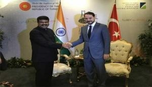 Dharmendra Pradhan holds bilateral talks with Turkish Energy Minister