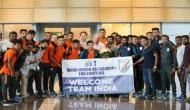 Indian U23 contingent receive warm welcome in Qatar
