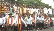 Anti-Hindi row: KRV activists demand signboards to have 70 percent Kannada