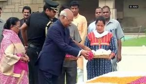 Ahead of swearing-in, President-elect Kovind pays tributes at Rajghat