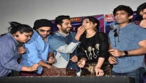Kriti Sanon celebrated her birthday promoting 'Bareilly Ki Barfi'!