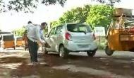 Hyderabad: Senior citizens take initiative to repair roads