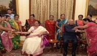 Prez Kovind, wife celebrate Raksha Bandhan with Gujarat's Koli community