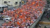 मुंबई: आरक्षण की मांग पर 'मराठा मूक मोर्चा' में उमड़ा जनसैलाब