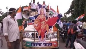 Ravi Shankar Prasad leads Tiranga Yatra in Patna