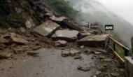 NH-3 blocked after landslide in Banala town, Mandi district