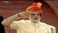 पीएम मोदी ने स्वतंत्रता दिवस पर लाल क़िले से चौथी बार फहराया तिरंगा