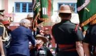 President Kovind presents colours to Ladakh Scouts regiment