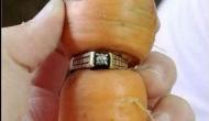 गाजर में अटकी मिली 13 साल पहले खोर्इ अंगूठी