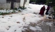 Hyderabad: Drain in Dharani Nagar spills thick toxic foam
